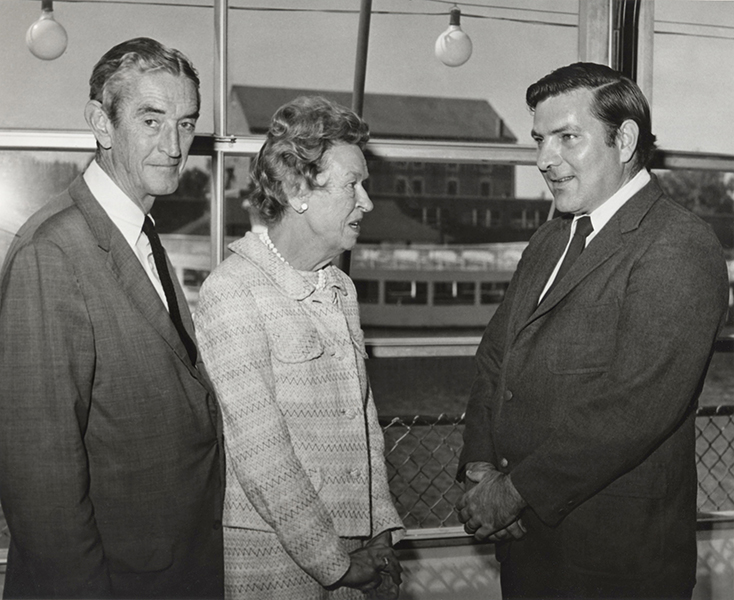John Jack Carrott With Elizabeth Williams And Francis Keegan 1970